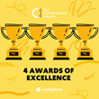 Mediaplanet Wins 4 Prestigious Awards of Excellence for Its Content Marketing Work