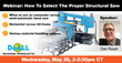 DoALL Sawing Products Announces How To Select The Proper Structural Saw Webinar Scheduled For 5/26/2021