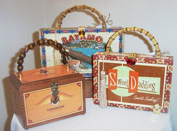 Cigar Box Purses By Mushuhandcrafted One Of A Kind Collectibles