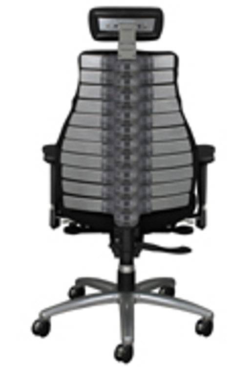 new ergonomic chair has an adjustable backbone spine