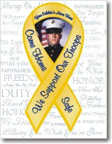 Holiday cards now available with personalized yellow ribbon design yellow ribbon greeting card with photocreate a personalized holiday greeting card this year with a photo of your soldier in a yellow ribbon design m4hsunfo