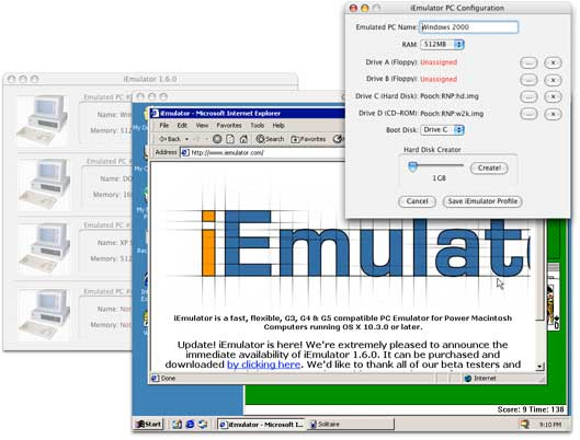 windows emulator on mac os x