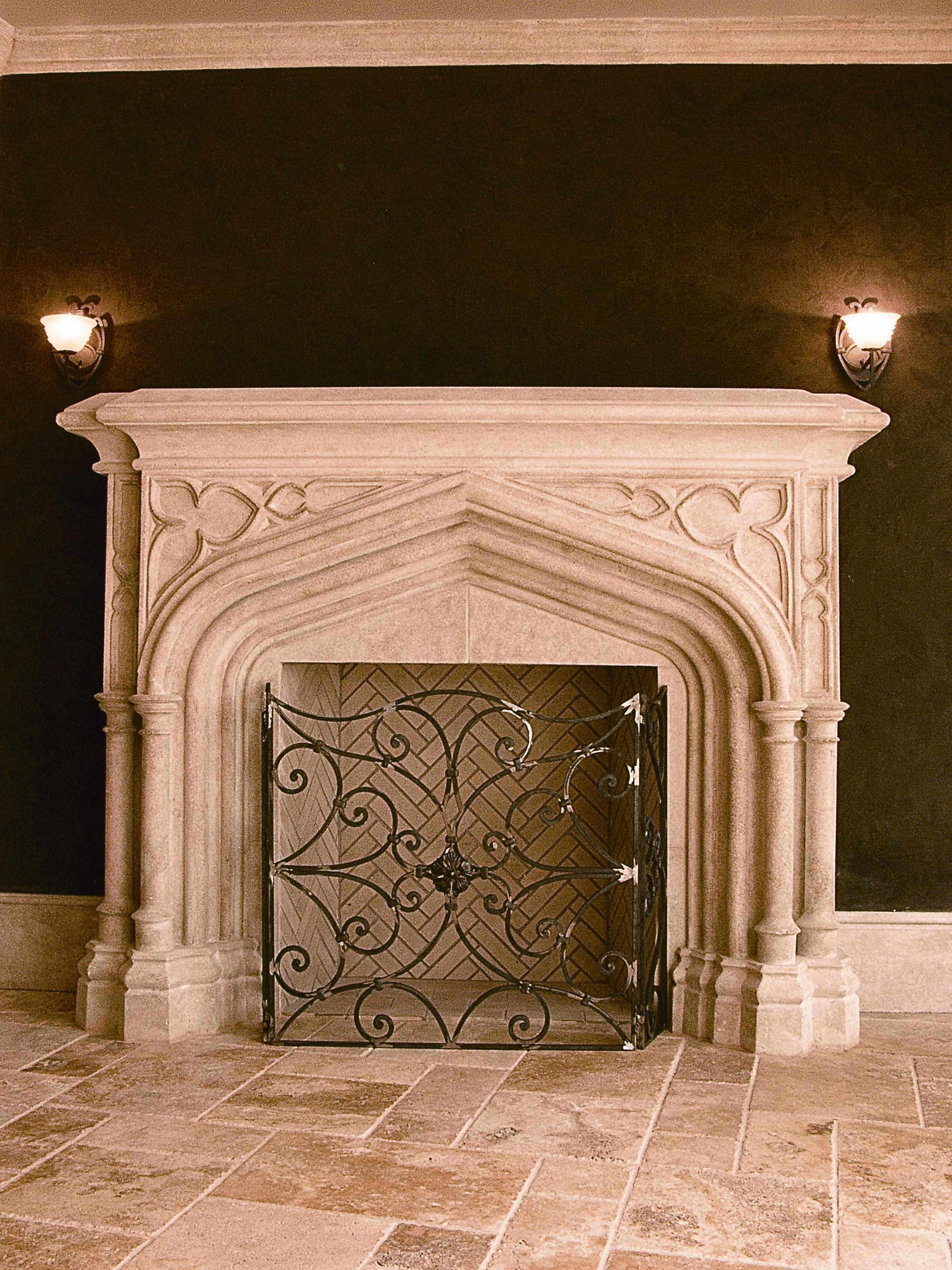 Stone Age Designs Recreates Old World European Fireplace