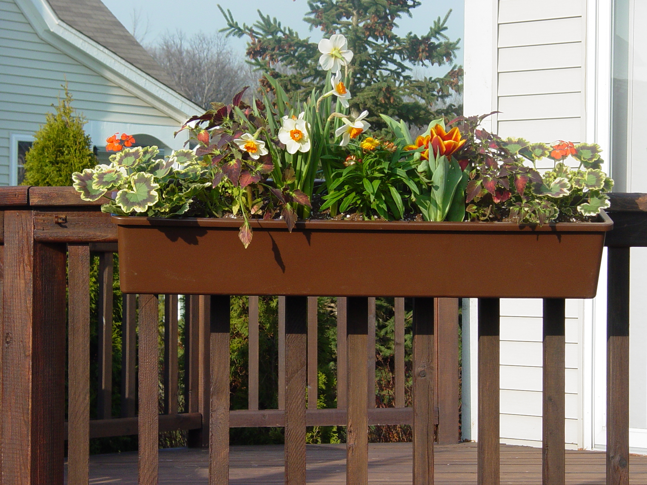 Planters Hang On Decksthis Is Our Brown Hanging A Deck They Flow With The And House