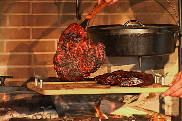 Cowboy Swing GrillThe Equipment Featured On Campfire Cafe Was Designed By Host Johnny Nix For Successful Outdoor Cooking