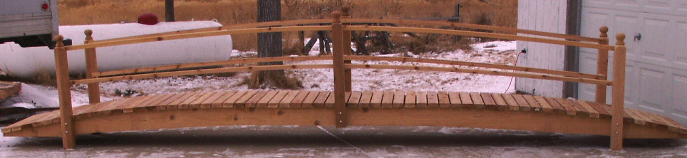 Rod And Family On A 5 Ft Cedar BridgeHow To Build A Strong Cedar Footbridge  By Rod Bird