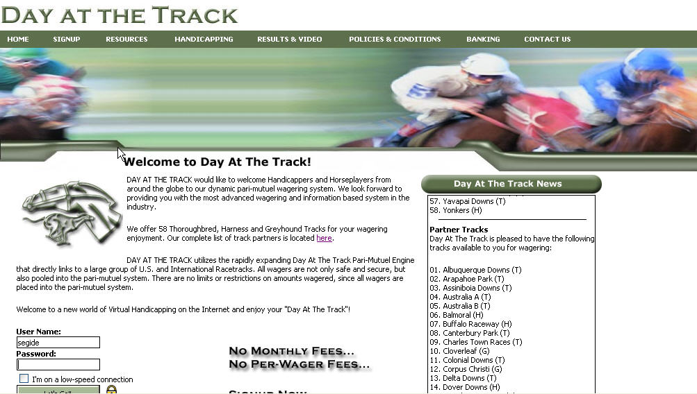 Day At The Track, Inc  Launches the Most Advanced Online Wagering