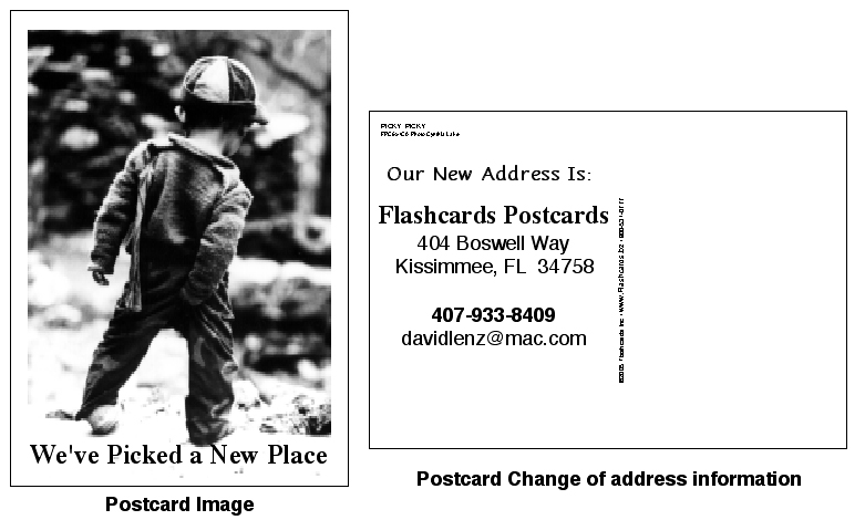 Business Change Of Address Postcard Examplethis Example Flashcards Postcards Is Led Picky