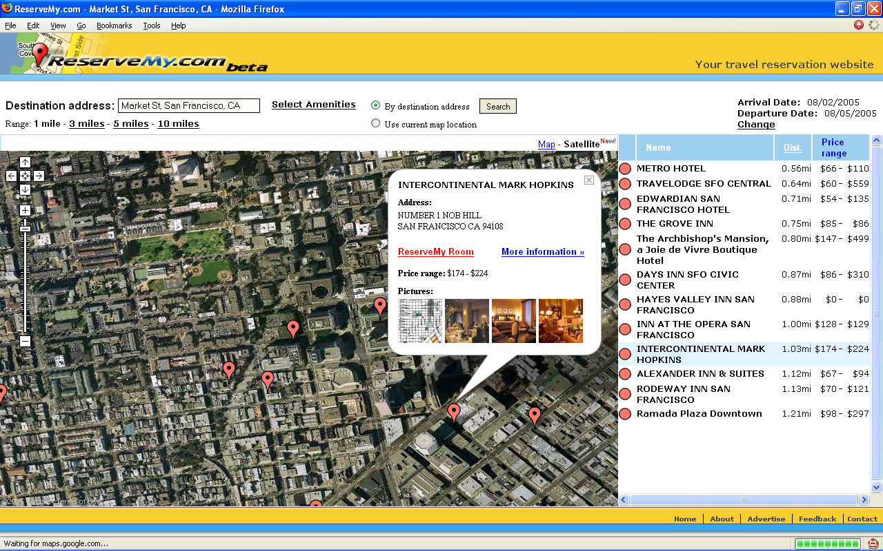 ReserveMycom Releases Hotel Travel Search Integration With Google - Search satellite maps
