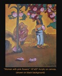 """Woman with pink flowers"" 2005"