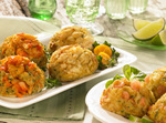 All-natural Shrimp Cakes and Crab Cakes