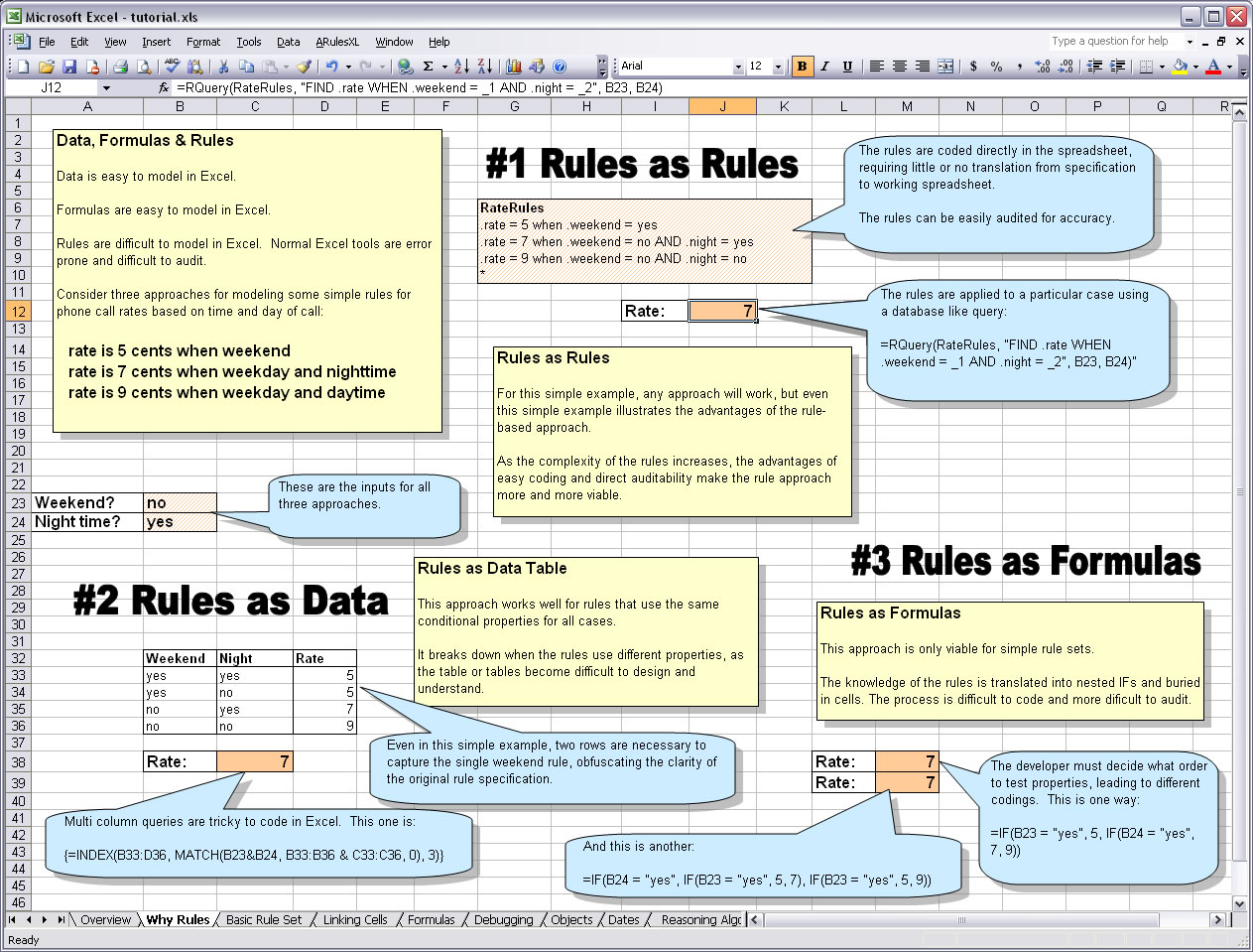 add business rules to your excel spreadsheets