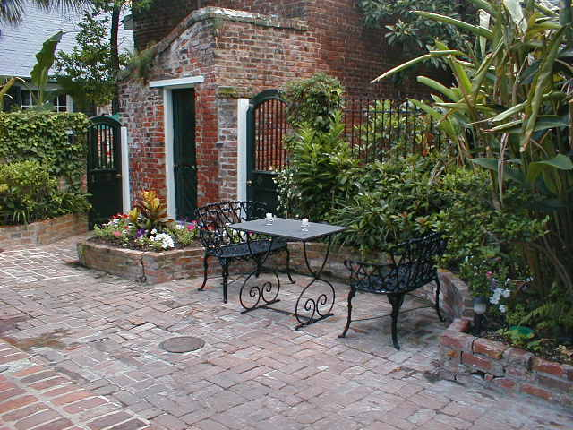 Courtyard At The Hotel Maison De VilleThe Traditional New Orleans French  Quarter Courtyard At The Hotel Maison De Ville ...