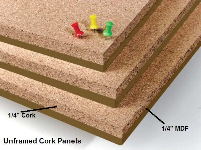 Cork Products Including Bulletin Boards Color Cork