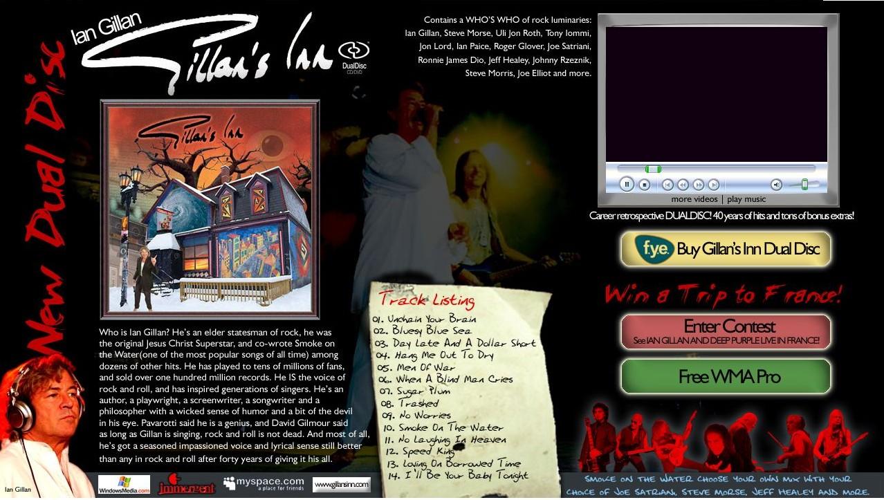 Legendary Deep Purple vocalist Ian Gillan, Releases Gillan's