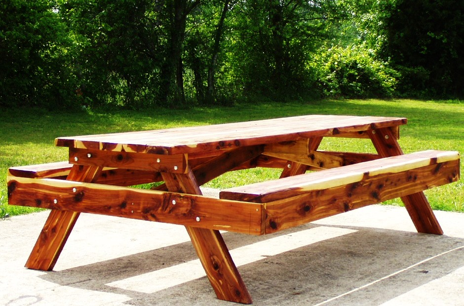Handcrafted Garden Bridges Featured On Comcast Cable Channel In - 12 ft picnic table