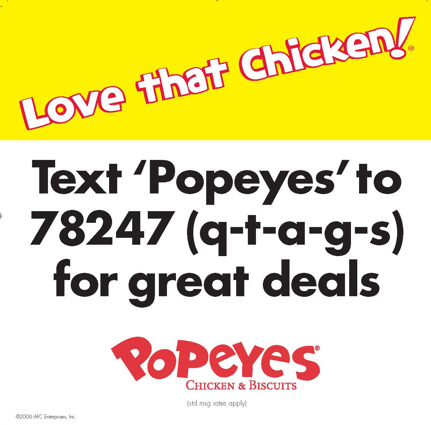 Popeyes Adds Qtags For Extra Marketing Flavor Text