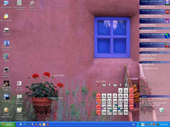 Active Desktop Calendar Integrates With Google Calendars