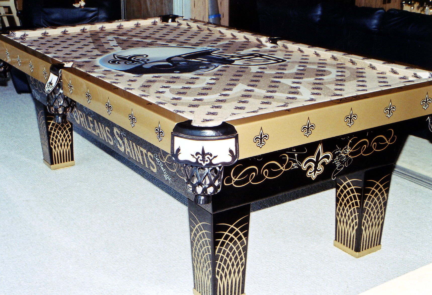 New Orleans Saints Themed Pool Table ...