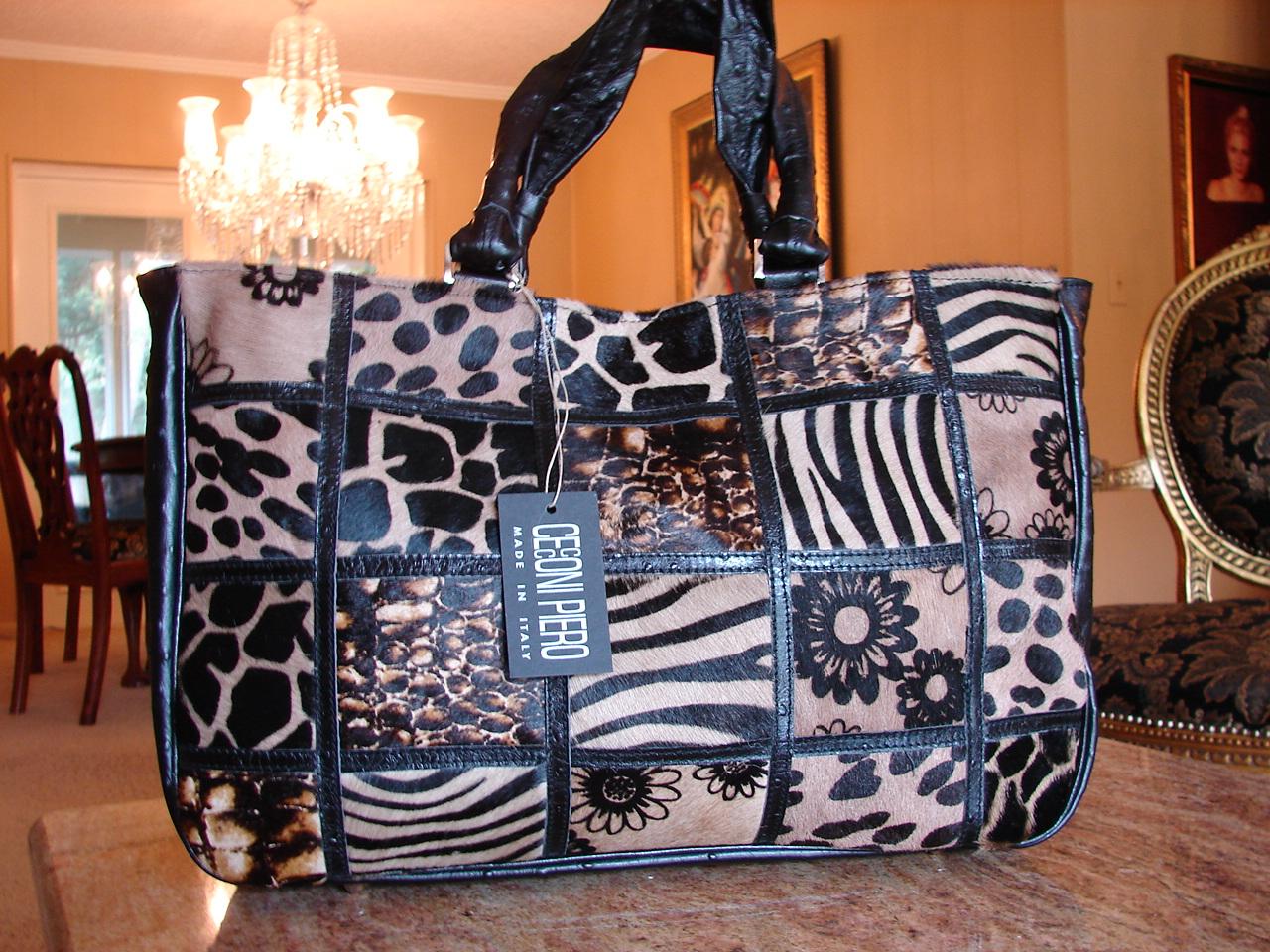 Italian Designer Handbagitalian Handbag With Ultraluxe Skins Patterns