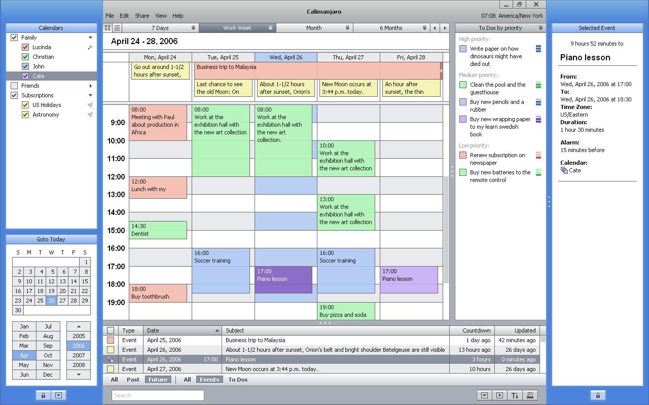 Introducing Calimanjaro A New Calendar Software Delivering The Big