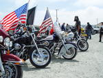Patriotic Motorcycle Groups Attend Event
