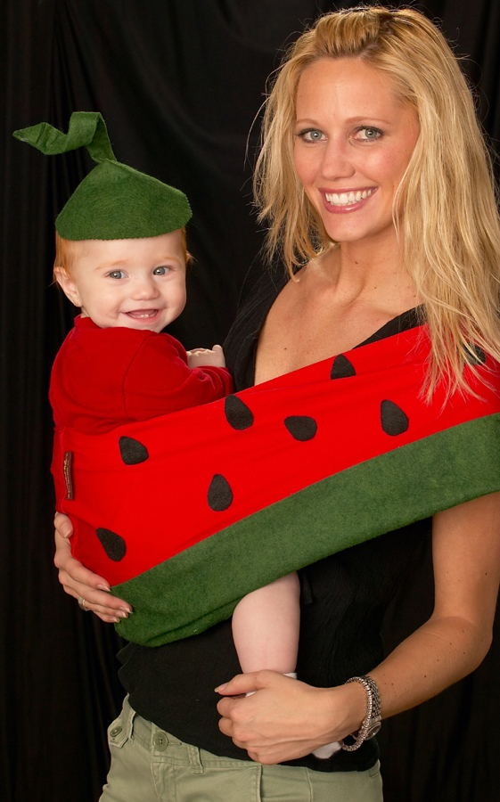 Watermelon baby sling Halloween costumeA Mammau0027s Milk costume transforms baby into a luscious watermelon ...  sc 1 th 284 & For Trend-Setting Moms: A New Twist on Halloween Costumes for Babies ...