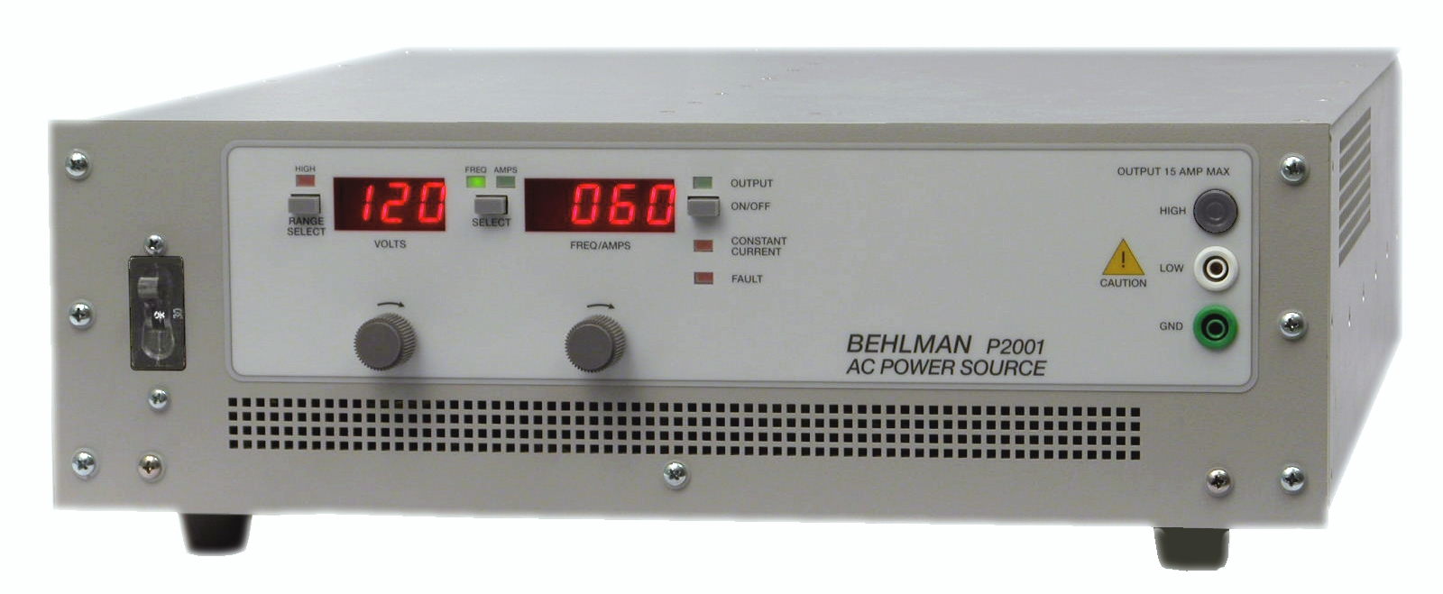 New Behlman 2 Kva Ac Power Source Expands Line Of Low Cost Solid High Current Supply Dc The Provides Clean Regulated With Operator Selectable Voltage From 0 135 Or 270 Vac And Adjustable Frequency