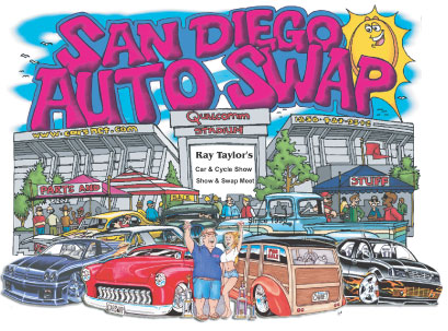 San Diego Car Cycle Show And Swap At Qualcomm Stadium On Sunday - San diego car show 2018