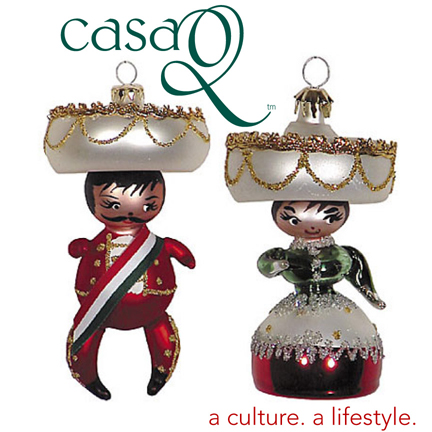 Mariachi CoupleMariachi couple handblown glass ornament from Mexico - Hispanic Holiday Ornament Collection Released