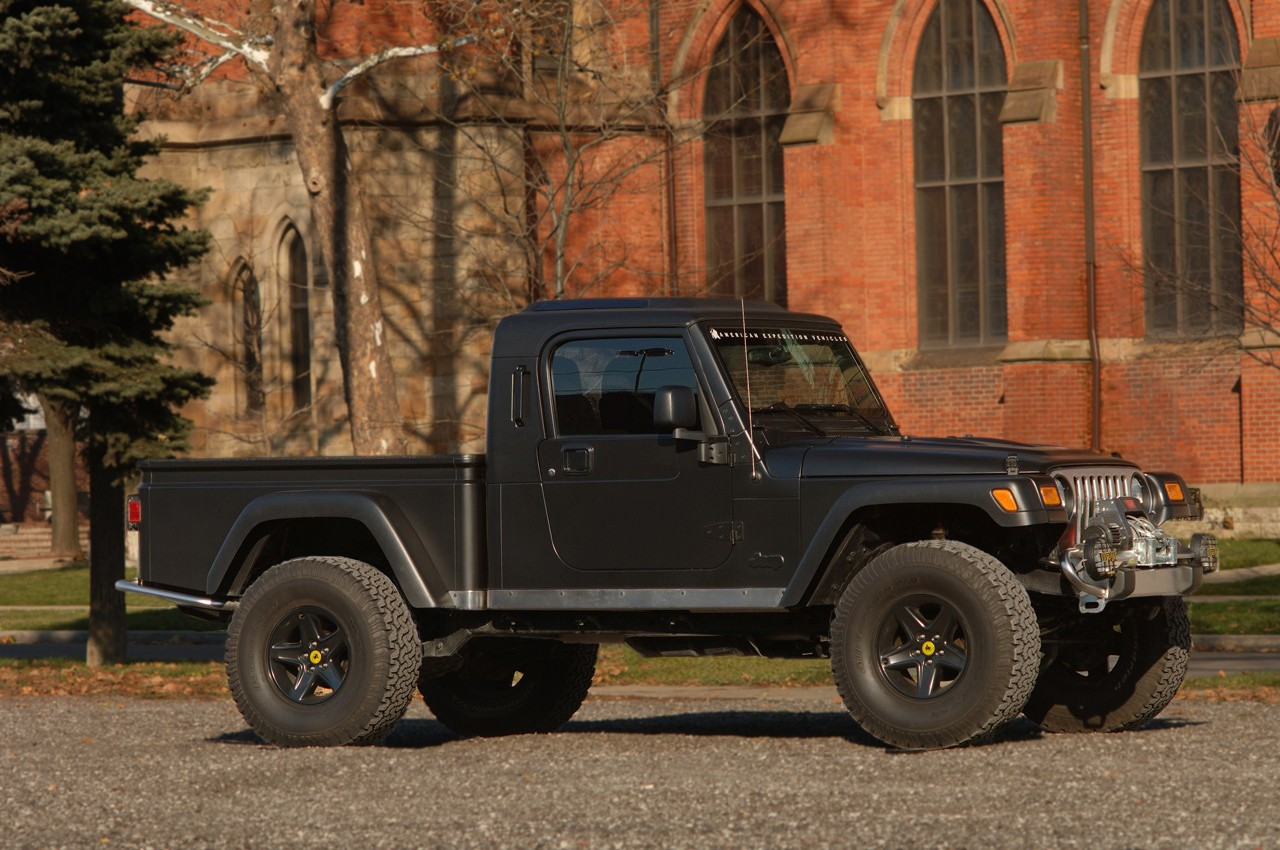 New Aftermarket Firm Streetcar Usa Launches Establishes Key Brute Jeep Wrangler Pickup Conversion For All Tj Models Is Available As A Production Ready Kit Or Turnkey To Be Performed By American