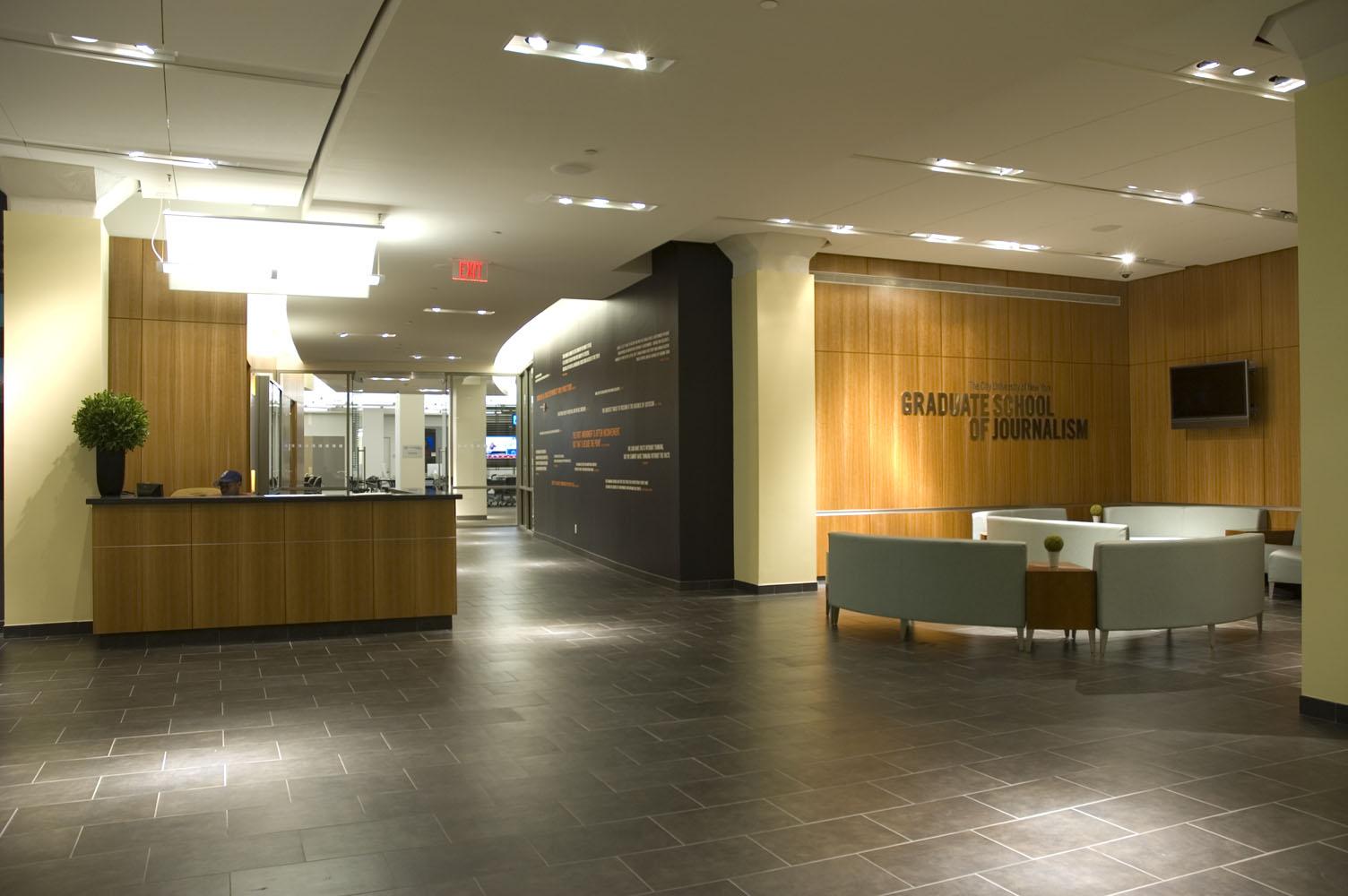 Cuny Newsroom Lobby By Thomson Architects