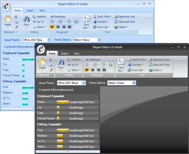 Introducing Elegant Ribbon with Office 2007 Style Controls