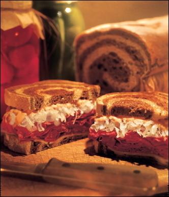 A Reuben sandwich yum!