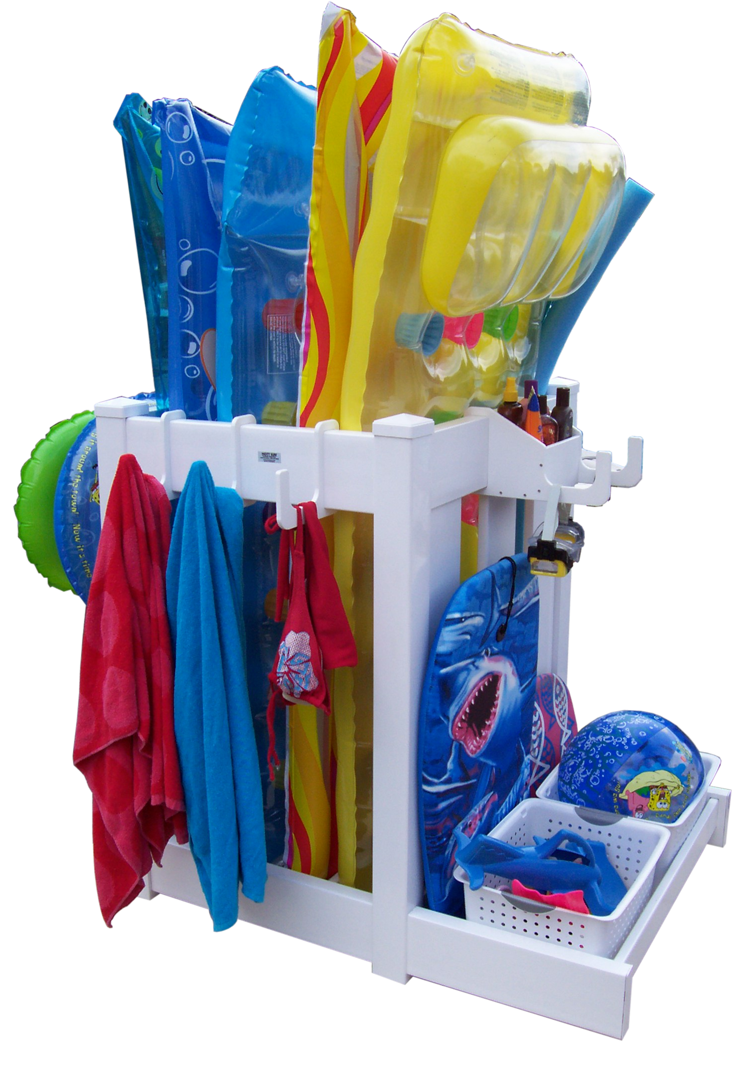 Hott Sun Investments, Poolside OrganizerThe Poolside Organizer Is An  Innovative Creation That Helps You Keep All Of Your Pool Accessories  Organized, Dry, ...