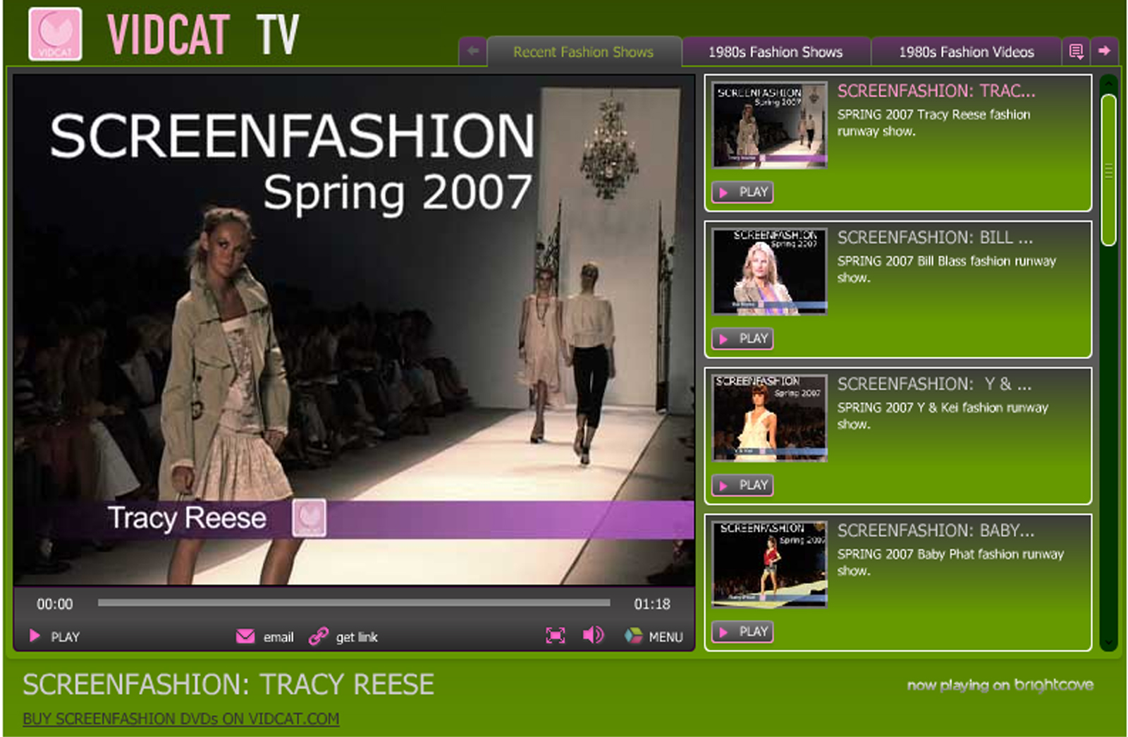 Vidcat TV Launched: New Internet Fashion TV Channel Features Several