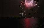 fireworks presented by Grucci at the New York Harbor