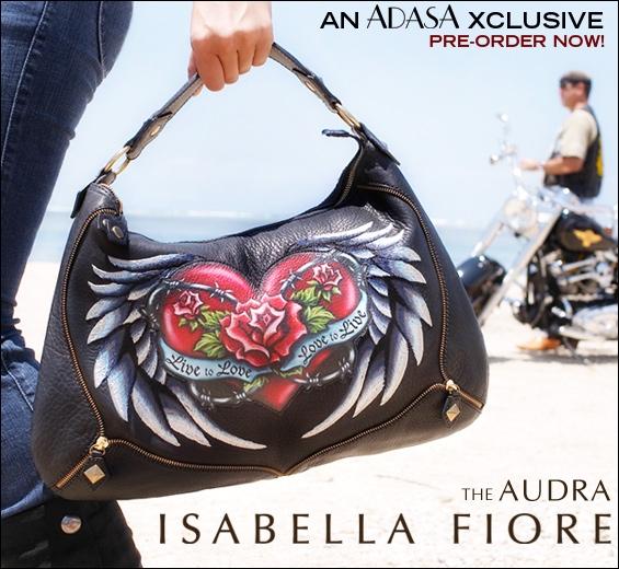 47ef2ba63ff Exclusive Audra Isabella Fiore Bag For Adasa. Isabella Fiore Goes Exclusive  At Adasa