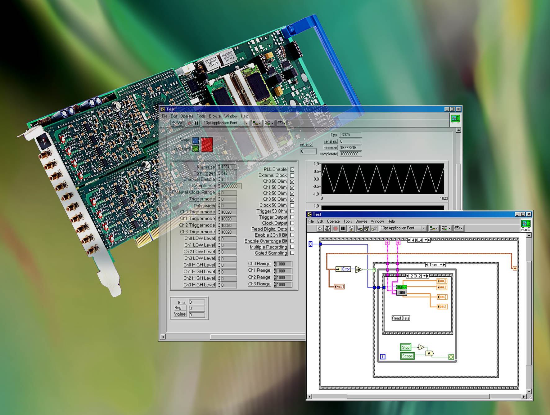 Strategic Test Announces New Labview Driver For Ultrafast Digitizer Component Signal Generator Circuit Designing A Function Drivers And Waveform Pci Boards