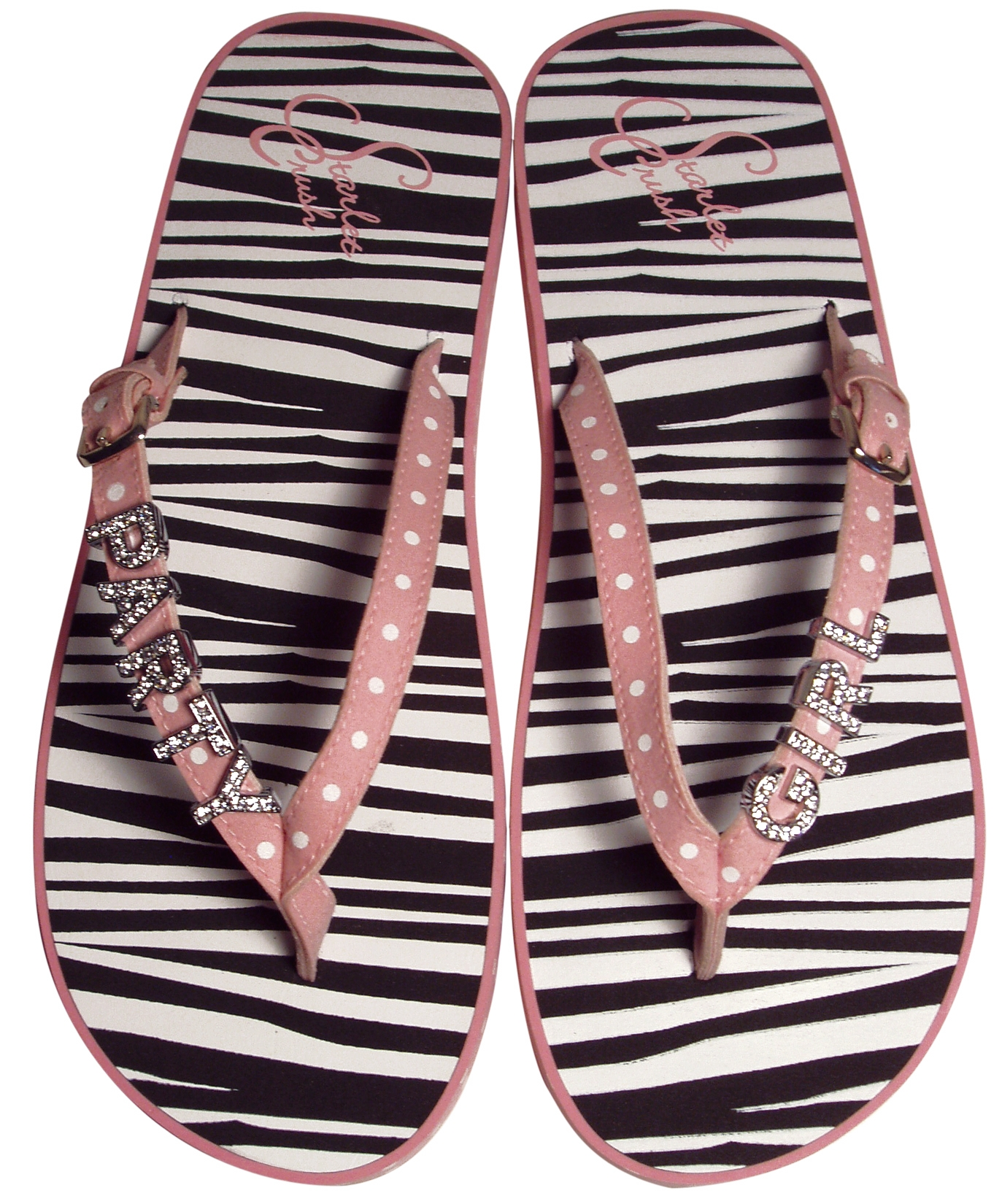 8cc74c07dcaa1b BRAND NEW- Pink Polka Dot and Zebra Print!These are for the party girl.  Have fun and stay on top of the latest trends! BRAND NEW- Brown Flip Flops