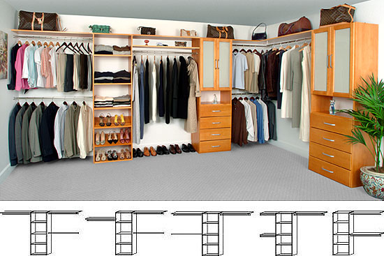 Walk In Solid Wood Closet Organizer SystemElegant 100% Solid Wood Closet  Organizer System. Furniture Quality Finish, Easy Installation.