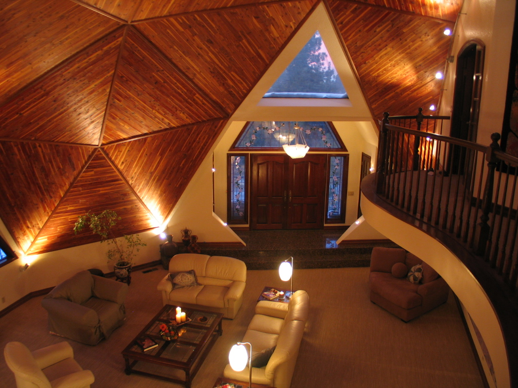 Right home selling rare geodesic dome home in the los for Geodesic home plans