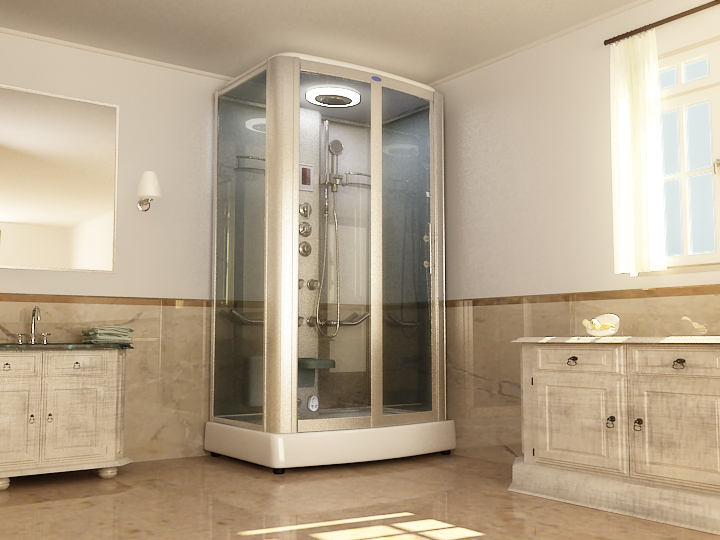 Mindshower Steam ShowerA Steam Shower With Integrated Lavender Aromatherapy  And Stereo Sound ...