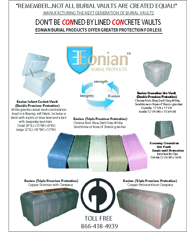 Plastic Burial Vault Helps Lighten Burial Burden