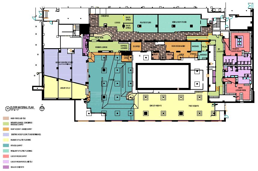 Chase park plaza previews fitness and wellness center sante interior sante blueprint floorplan malvernweather Images