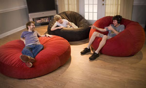 Foam Bean Bag ChairsThe 3 In 1 Relax Sack Is 3 Products One: Crash Pad, Bean  Bag Chair, Foam Hammock. Dorm ...