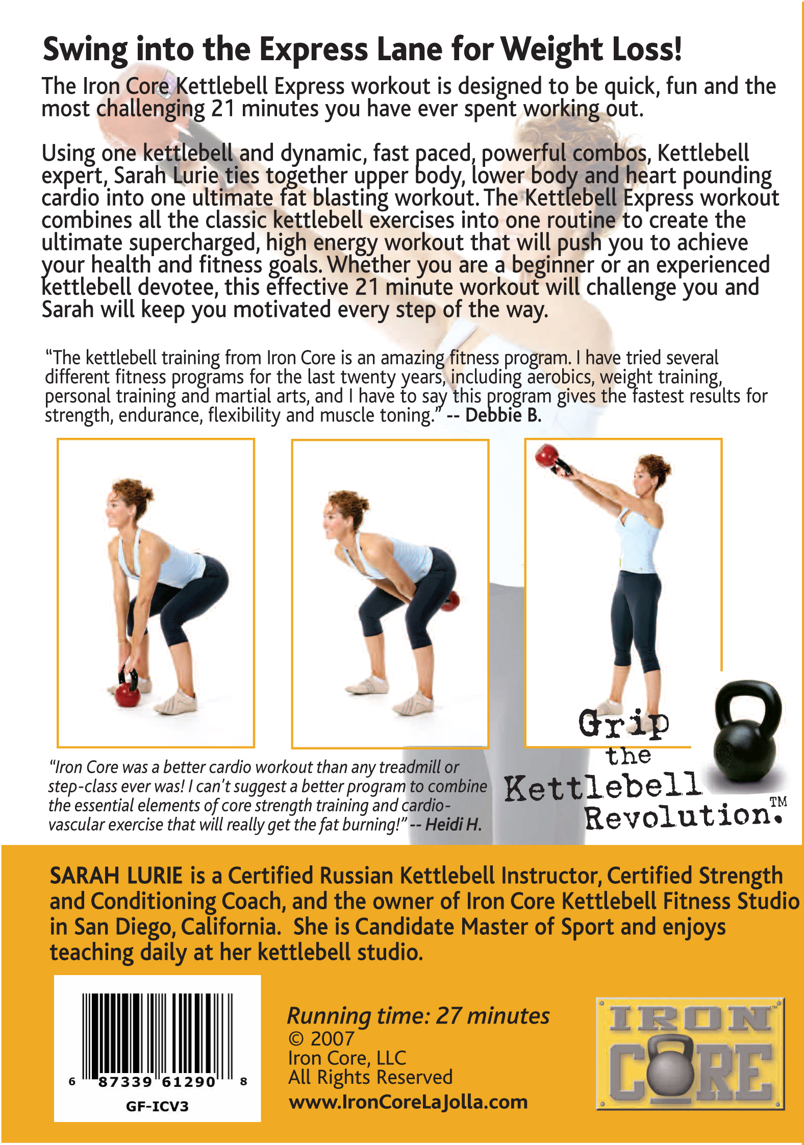 COVER Iron Core Kettlebell Express Back Cover