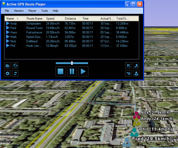 Active GPX Route Player: A New Way to Playback GPS Recordings