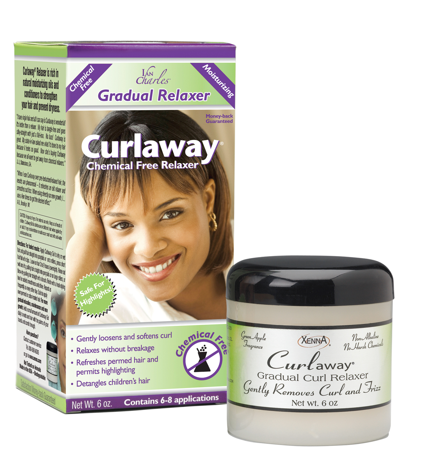 Curlaway Curl Relaxing Gelchemical Free Patented Rela Gradually Without Breakage