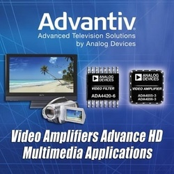 Analog Devices High-Performance Amplifiers Deliver Sharper, More Life-Like Images in HD Multimedia Applications :  ADI's HD/SD compact six-channel video filter and triple, rail-to-rail video amplifiers reduce system design time and deliver the highest quality picture across multiple video delivery formats.